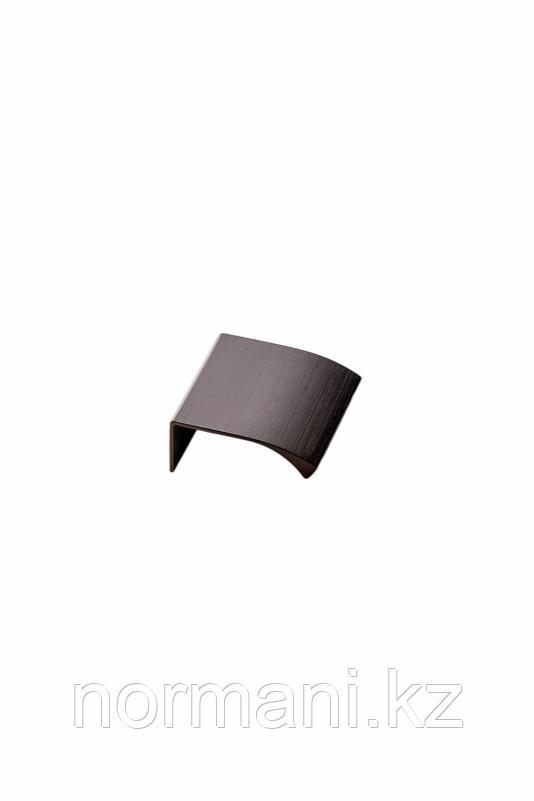 Мебельная ручка накладная EDGE STRAIGHT L.40мм, отделка бронза темная