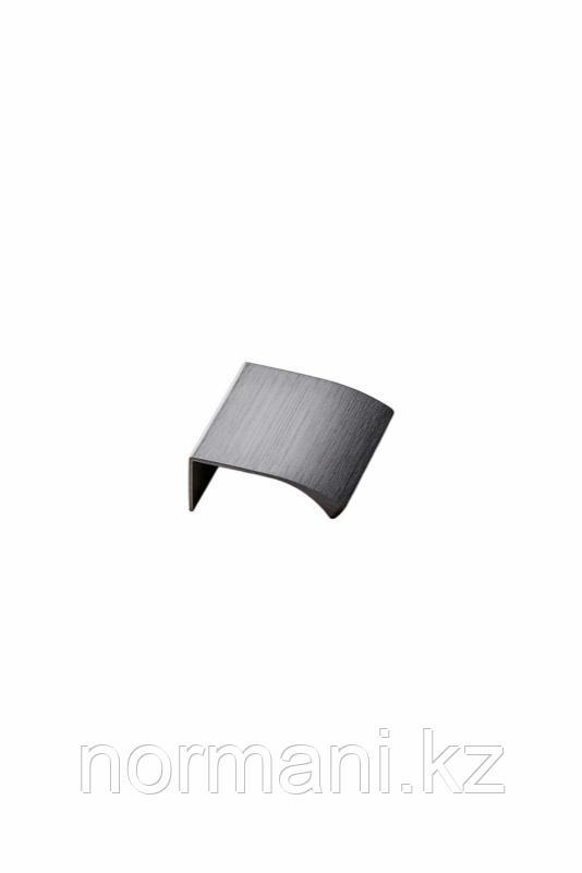 Мебельная ручка накладная EDGE STRAIGHT L.40мм, отделка графит