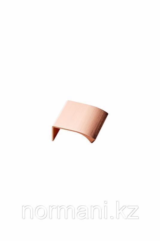 Мебельная ручка накладная EDGE STRAIGHT L.40мм, отделка розовое золото