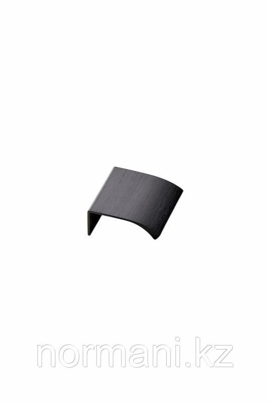 Мебельная ручка накладная EDGE STRAIGHT L.40мм, отделка черный шлифованный