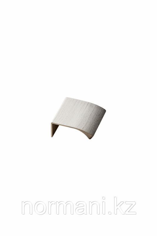 Мебельная ручка накладная EDGE STRAIGHT L.40мм, отделка сталь шлифованная