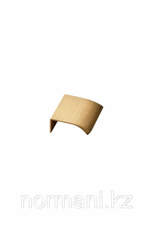 Мебельная ручка накладная EDGE STRAIGHT L.40мм, отделка золото шлифованное