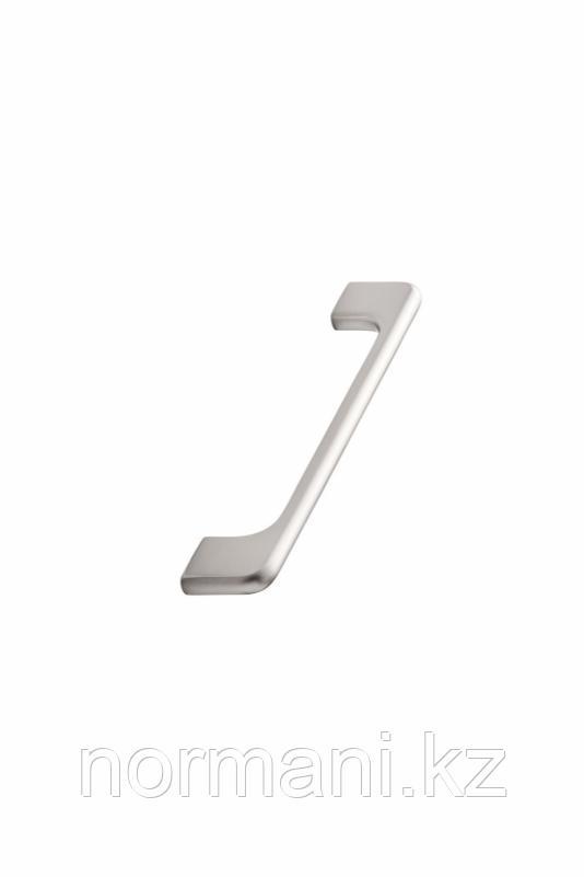 Мебельная ручка скоба 160мм DOPPIA, отделка сталь шлифованная