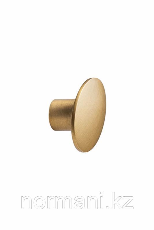 Мебельная ручка кнопка DOME d.50мм, отделка золото темное