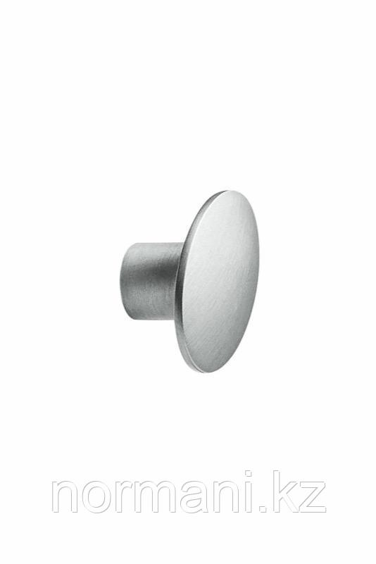 Мебельная ручка кнопка DOME d.50мм, отделка сталь шлифованная