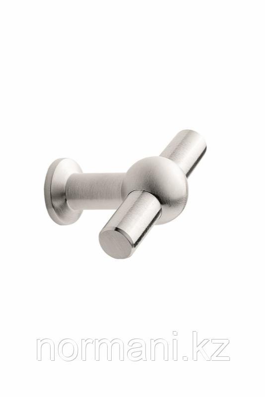Мебельная ручка кнопка CURTAIN L.50мм, отделка сталь шлифованная