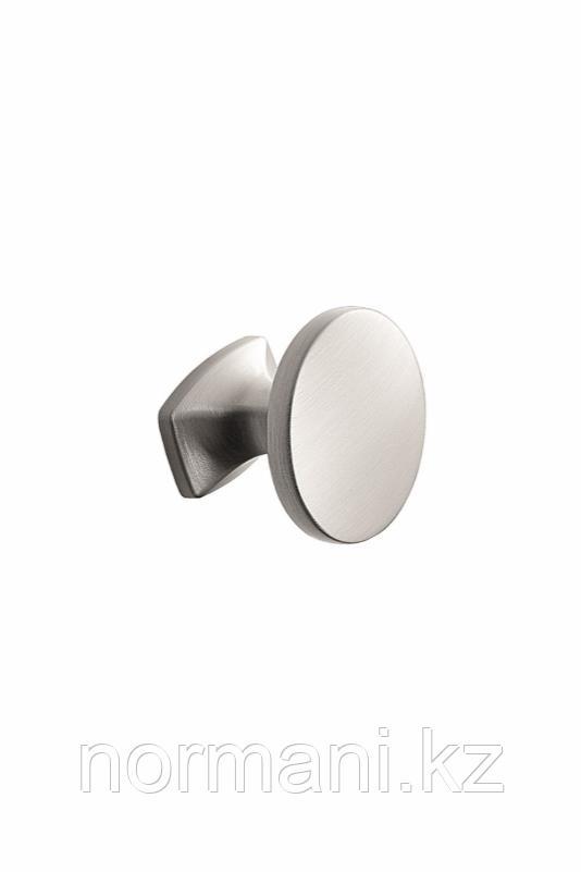 Мебельная ручка кнопка CLASSIC d.34мм, отделка сталь шлифованная