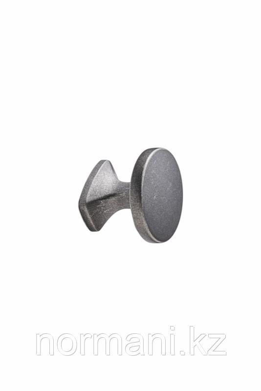 Мебельная ручка кнопка CLASSIC d.34мм, отделка железо