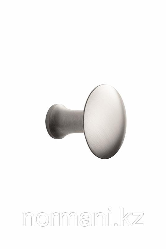 Мебельная ручка кнопка CASTLE d.36мм, отделка сталь шлифованная