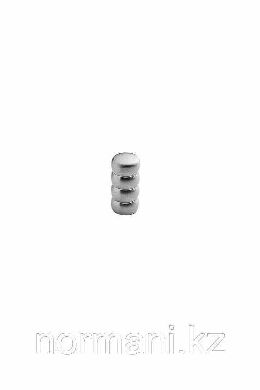 Мебельная ручка кнопка BOUNCE d.16мм, отделка сталь шлифованная