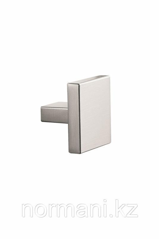 Мебельная ручка кнопка BLOCK KNOB размер 45*45мм, отделка сталь шлифованная