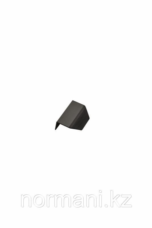 Мебельная ручка накладная BLAZE L.60мм, отделка черный шлифованный