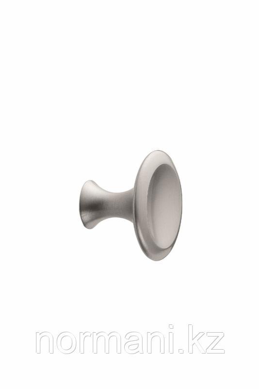 Мебельная ручка кнопка BELL d.42мм, отделка сталь шлифованная