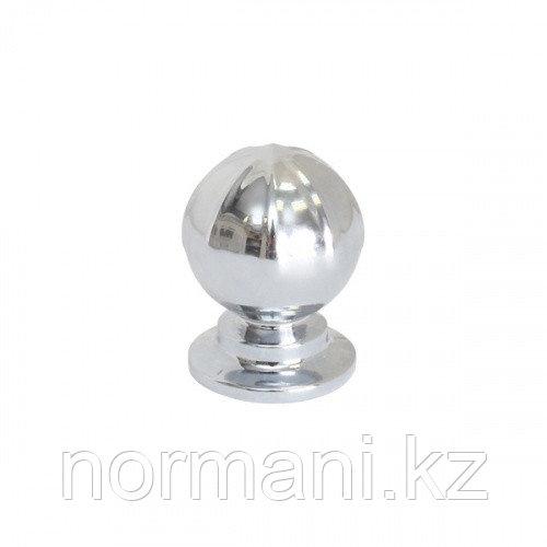 Мебельная ручка кнопка BANISTER d.33мм, отделка темная бронза