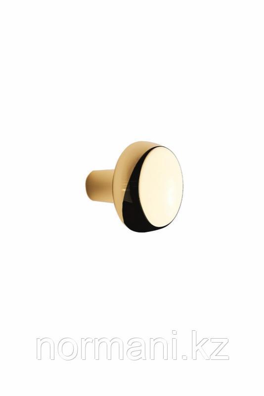 Мебельная ручка кнопка AUTUMN d.28мм, отделка золото глянец