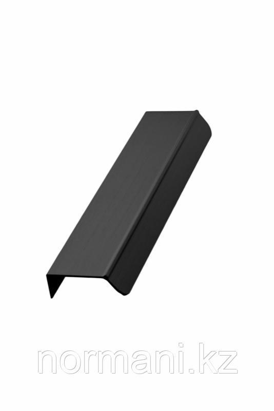 Мебельная ручка накладная ACCENT L.200мм, отделка черный шлифованный