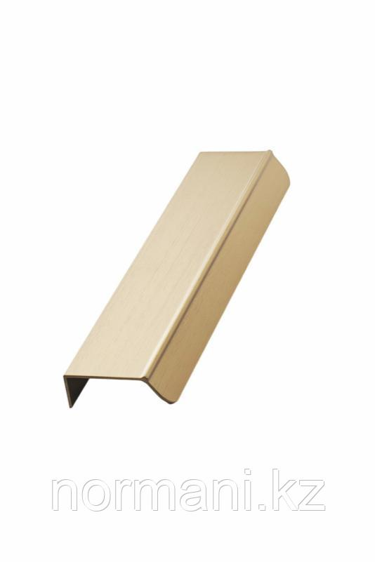 Мебельная ручка накладная ACCENT L.200мм, отделка золото шлифованное