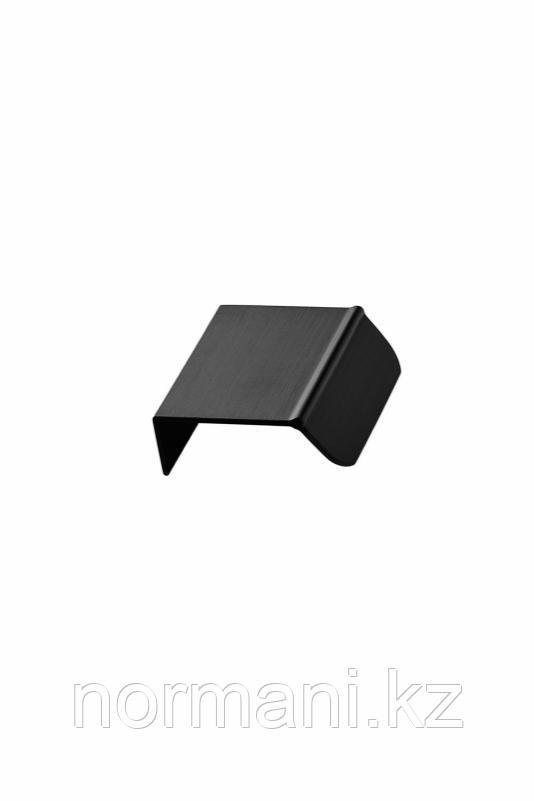Мебельная ручка накладная ACCENT L.50мм, отделка черный шлифованный