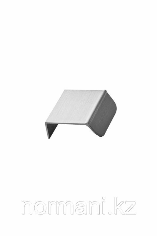 Мебельная ручка накладная ACCENT L.50мм, отделка сталь шлифованная