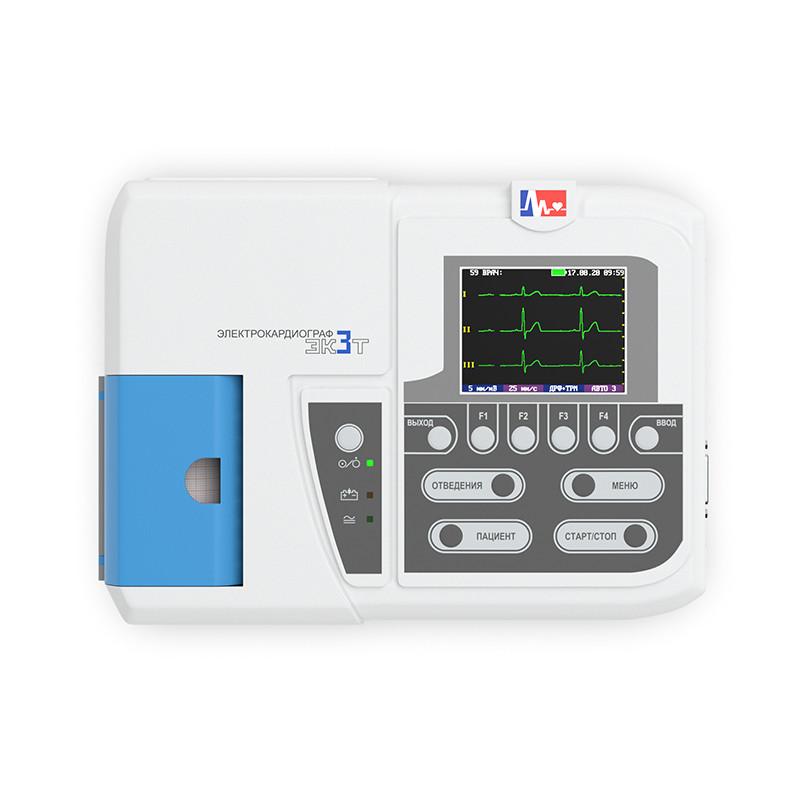 Электрокардиограф одно-трехканальный миниатюрный ЭК3Т – 01 – «Р-Д»/1 (регистрация 1-го или 3-х отведений однов