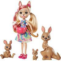 Энчантималс Кукла Камилла Кенгуру и три питомца Kamilla Kangaroo Enchantimals
