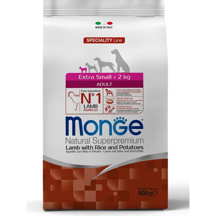 Monge Корм для собак мелких пород, Ягненок, 800 гр