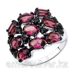Кольцо SOKOLOV серебро с родием, кристалл swarovski  фианит , многокаменка 94012683 размеры - 17