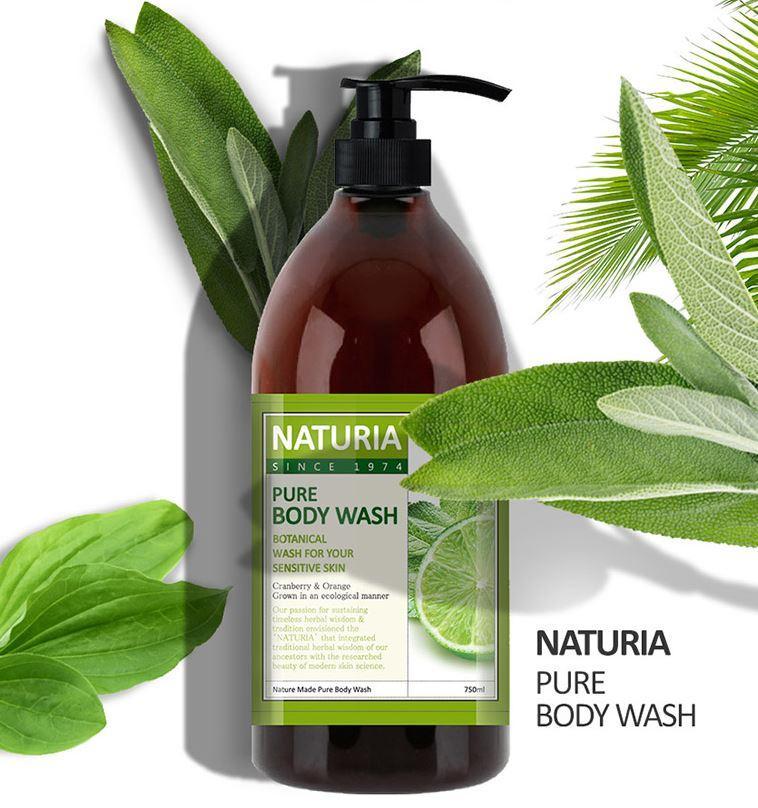 NATURIA Гель для душа МЯТА/ЛАЙМ PURE BODY WASH (Wild Mint & Lime)