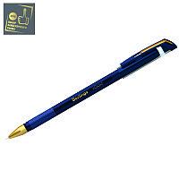 """Ручка шариковая Berlingo """"xGold"""" синяя, 0,7мм, игольчатый стержень, грип"""