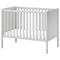 Кроватка детская СУНДВИК серый 60x120 см ИКЕА, IKEA