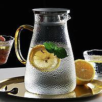 Кувшин с крышкой и ситом на носике стеклянный 1,7 литр для напитков