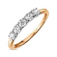 Золотое кольцо из красного золота с фианитами 1,6 г