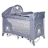 Кровать - манеж MOONLIGHT 2 plus rocker SILVER BLUE CAR (Bertoni/Lorelli, Болгария)