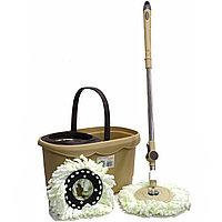 Набор для уборки швабра + ведро с отжимом D.I.N. бежевый