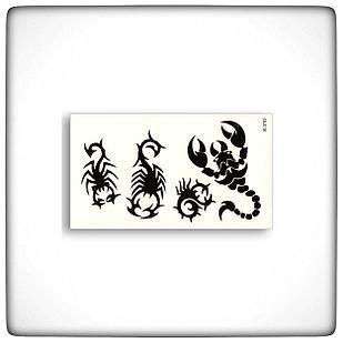 """Водостойкая временная тату-наклейка """"Скорпион"""""""