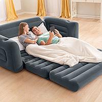 Надувной диван двухместный трансформер Intex 66552NP (203х224х66 см)