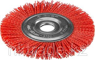 Щетка дисковая для УШМ ЗУБР, нейлоновая проволока с абразивным покрытием, 150х22мм, 35160-150_z01