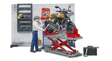 Bruder Ремонтный набор с жёлтым Ducati, Брудер 62-102