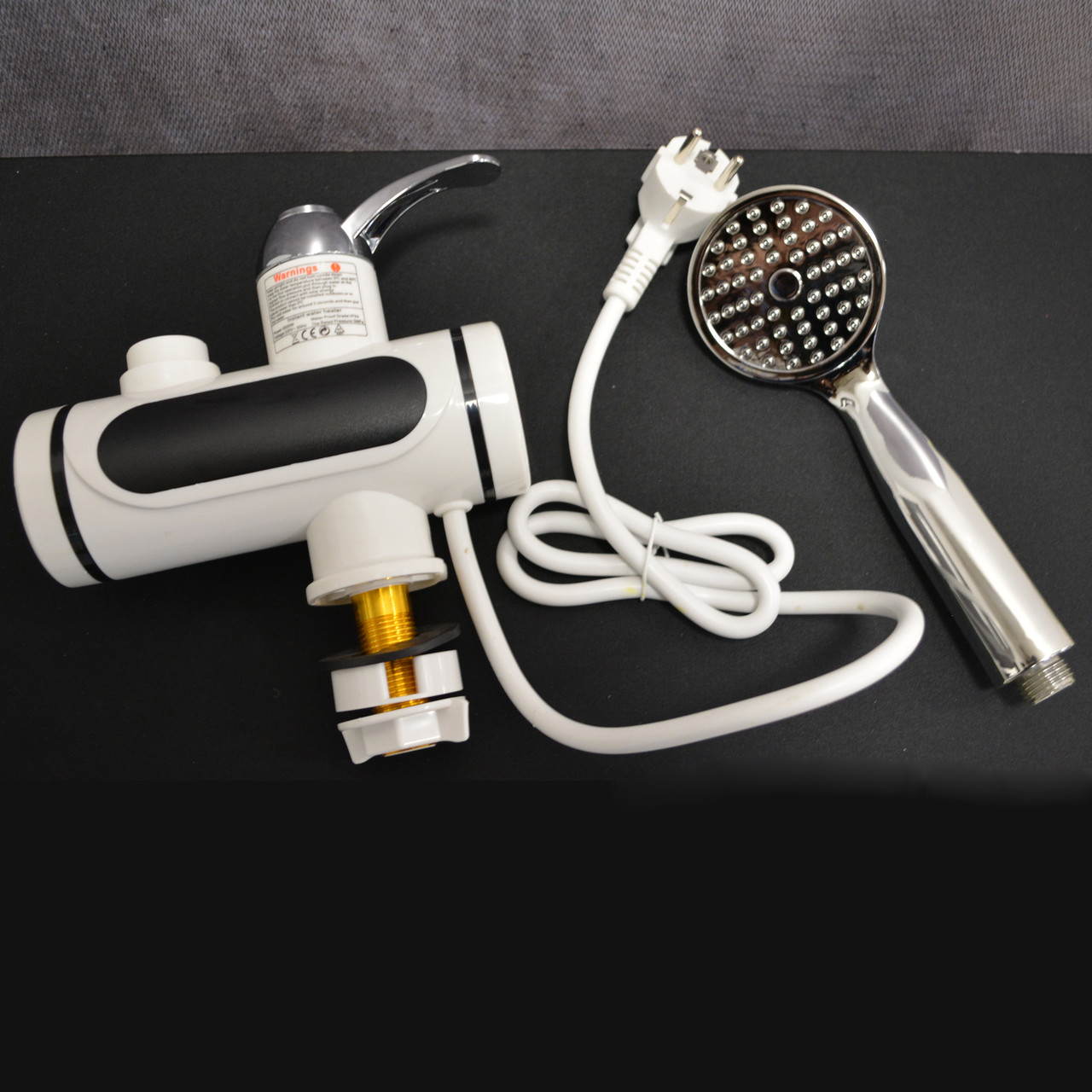 Проточный электрический водонагреватель c душем и дисплеем Instant Electric Heating Water Faucet - фото 4