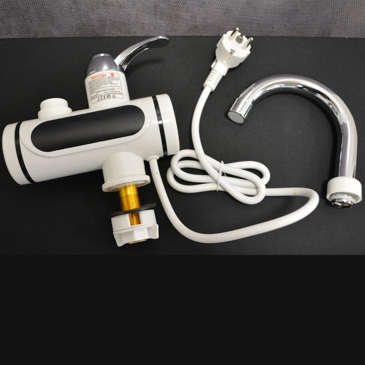 Проточный электрический водонагреватель c душем и дисплеем Instant Electric Heating Water Faucet - фото 5