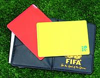 Карточки для футбола (желтая, красная) Судейские карточки