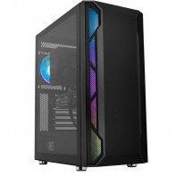 Корпус ATX midi tower EINAREX, Starfall, 3*120cm black fan + 1*120cm RGB fan (без БП), черный
