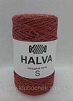 Джутовая пряжа (нить) Halva S цветная Брусника