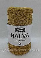 Джутовая пряжа (нить) Halva S цветная Горчица