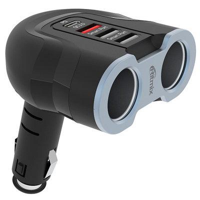 Car charger Ritmix RM-24XQPD black-grey