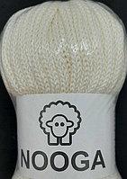 Шерстяной шнур (Пряжа) для вязания NOOGA (Нуга) Пломбир