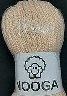 Шерстяной шнур (Пряжа) для вязания NOOGA (Нуга) Персик
