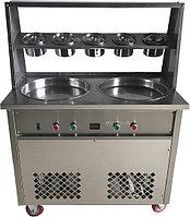 Фризер для жареного мороженого Foodatlas KCB-2Y (контейнеры, световой короб, стол для топпингов)