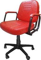 Кресло парикмахерское МЭДИСОН БРИЗ пневматика черная, пятилучье черное пластик, красное