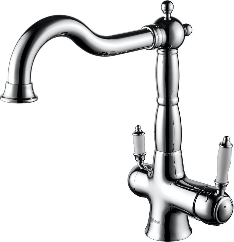 Смеситель для кухни LEMARK Comfort LM3065C с дополнительным подключением к фильтру питьевой воды, хром